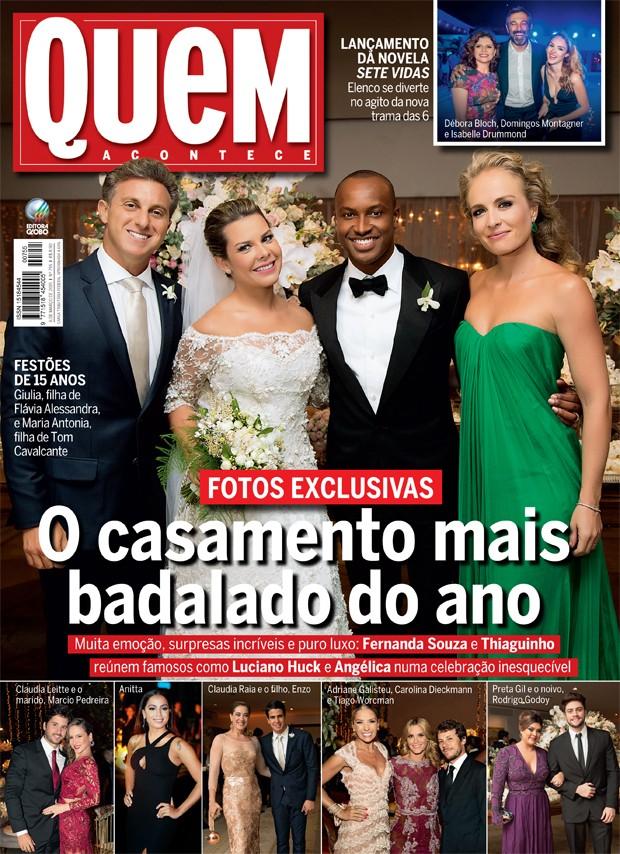 56f5bdc1f Capa de QUEM desta semana traz cobertura completa e fotos exclusivas do  casamento (Foto: