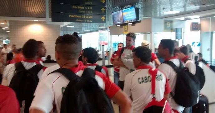 Cabofriense no aeroporto de congonhas, em são paulo (Foto: Sidnei Marinho)