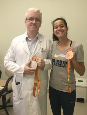 atletismo verônica hipólito médico marco túlio (Foto: Arquivo Pessoal)