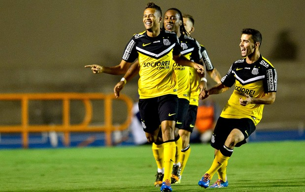 Geuvanio gol jogo Goiás x Santos (Foto: Getty Images)