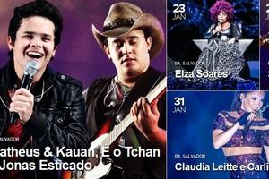 AGENDA: confira programação de todos os shows em Salvador (Reprodução/G1)