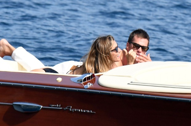Gisele Bündchen e Tom Brady (Foto: The Grosby Group)