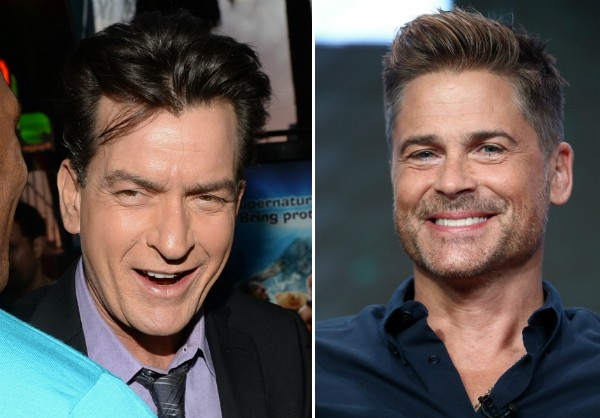 Os atores Charlie Sheen e Rob Lowe (Foto: Getty Images)