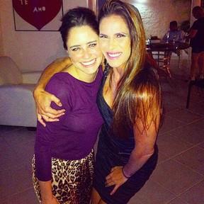 Fernanda Vasconcellos e Fabiana Sá em festa no Rio (Foto: Instagram/ Reprodução)