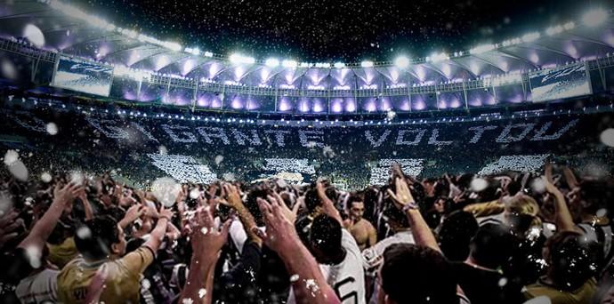 Torcida do Botafogo mosaico Maracanã (Foto: Divulgação / Botafogo)