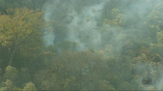 Incêndio é controlado na Serra da Boa Esperança, em Ilicínea, MG