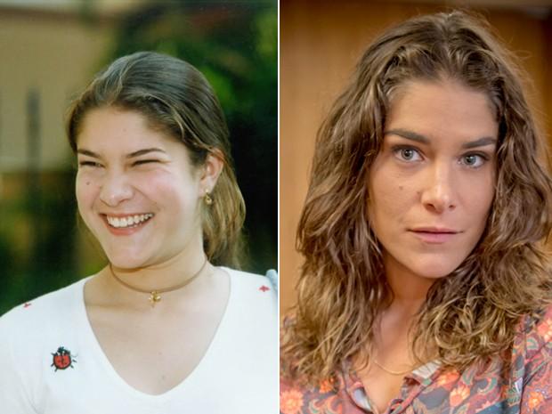 Antes e depois! À esquerda, Priscila Fantin como a jovem Tati, em Malhação (1999) e, à direita, no ano de 2015 na pele de Solange de Boogie Oogie (Foto: (Foto: CEDOC/TV Globo, Nelson Di Rago / Globo/Alex Carvalho))