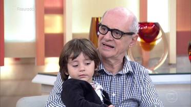 Marcos Caruso é avô do Bento, que nasceu com fissura labial