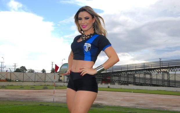 Aline Lima, representante do Ypiranga Clube no concurso Musa do Amapazão 2014 (Foto: Gabriel Penha/GE-AP)