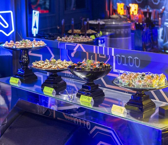 Decoração moderna e comidas deliciosas (Foto: Fábio Rocha/Gshow)