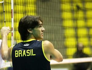 Giba treino seleção vôlei Liga Mundial (Foto: Alexandre Arruda/CBV)