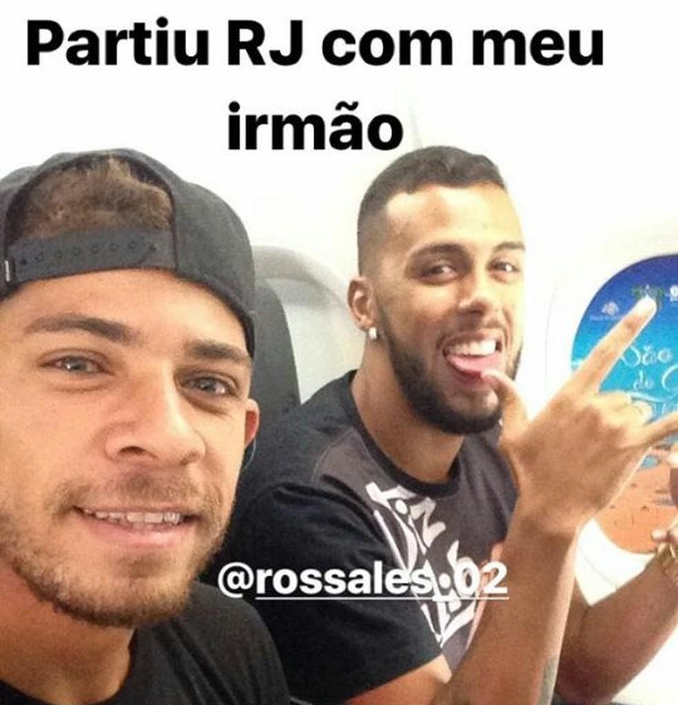 Ricardo Sena e Rossales deixam Teresina após rescisão de contrato (Foto: Reprodução/Instagram)