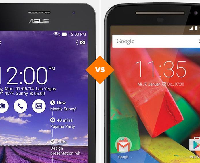 Zenfone 5 e Moto G 2: veja o comparativo de ficha técnica (Foto: Arte/TechTudo)