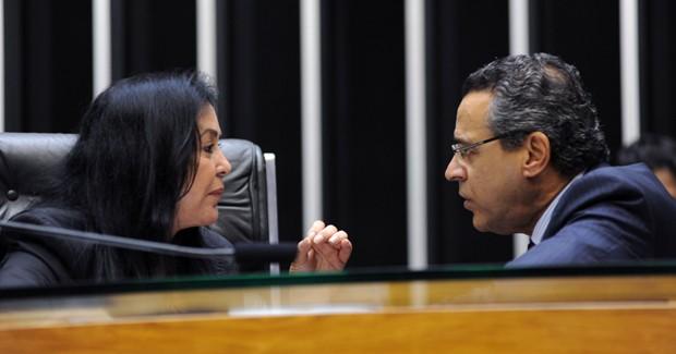 A vice-presidente da Câmara, Rose de Freitas, que lançou candidatura avulsa pelo PMDB, contra o líder Henrique Alves (Foto: Luis Macedo/Agência Câmara)