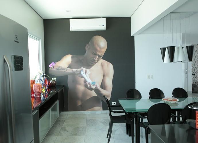 Detalhes da cozinha de Emerson Sheik (Foto: Felipe Monteiro/Gshow)