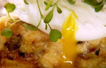 Briche de cogumelos e ovo. (Foto: Reproduo/GNT)