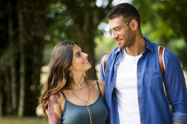 Giovanna Lancellotti e Lucas Lucco em cena da novela Sol Nascente (Foto: Globo/João Miguel Júnior)
