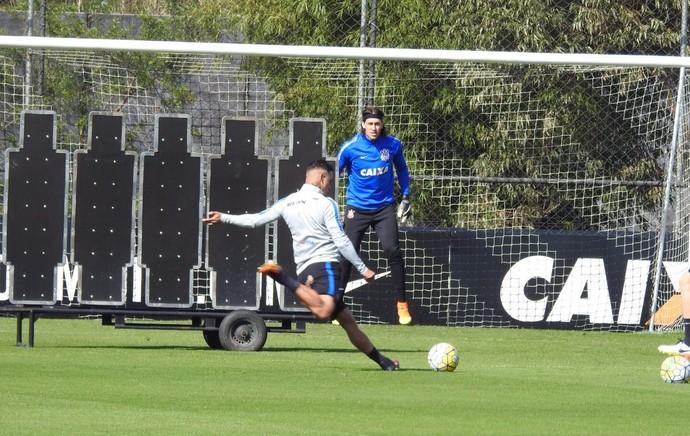 Corinthians treino (Foto: Diego Ribeiro)