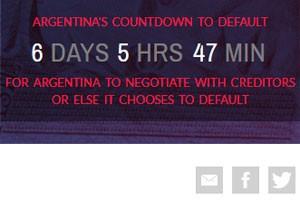 Grupo de fundos credores fazem contagem regressiva para o default na internet (Foto: Reprodução)
