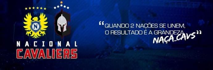 Nacional e Cavaliers parceria (Foto: Divulgação/Nacional)