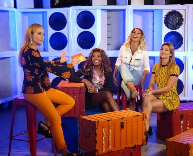 Angélica entrevista Ludmilla, Valesca e Kelly Key (Foto: Nathália Gomes/Gshow)