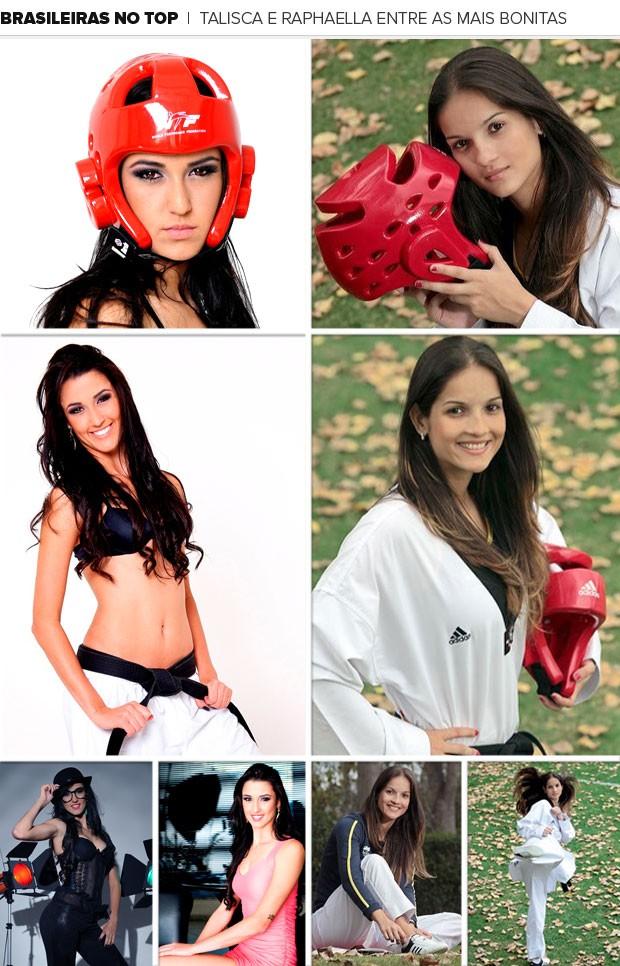 Mosaico musas brasileiras do Taekwondo (Foto: Editoria de arte / Globoesporte.com)