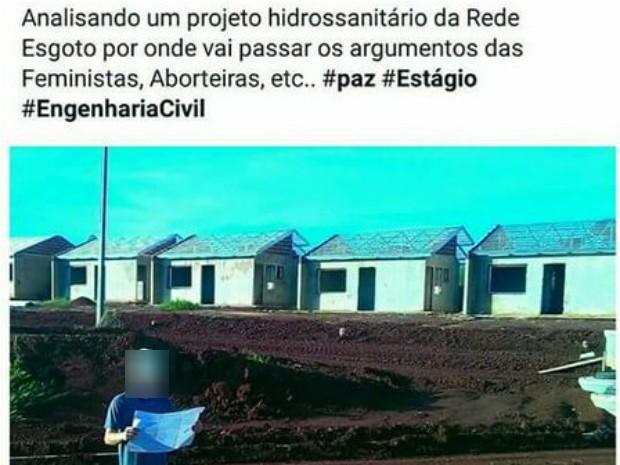 Gabriel Vaz disse que postagens foram brincadeira e pediu desculpas às pessoas ofendidas (Foto: Reprodução/Facebook)