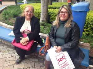 Mães OAB (Foto: Lisiane Lisboa/G1)