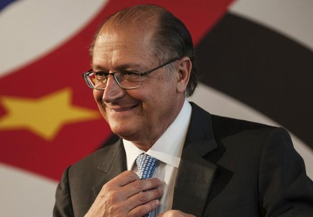 O governador de São Paulo, Geraldo Alckmin, em cerimônia no Palácio dos Bandeirantes (Foto: Divulgação)