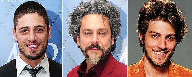 [BELEZA Barbas] Daniel Rocha, Alexandre Nero e Chay Suede (Foto: TV Globo/Divulgação)
