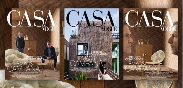 A edição de agosto da Casa Vogue, com os Irmãos Campana como editores convidados, chega com três capas: duas para a banca e uma para assinantes (Foto: Ruy Teixeira )