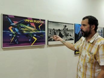 Colecionador lembra onde conseguiu cada uma das peças expostas (Foto: Débora Soares/G1)