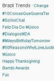 Trending Topics no Brasil às 17h04 (Foto: Reprodução)