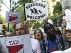 Multidão vai às ruas em Barcelona em apoio a imigrantes