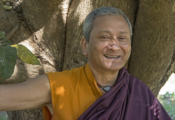 A trajetória de Saamdu Chetri levou-o de empresário a monge budista  (Foto: © Haroldo Castro/ÉPOCA)