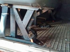 Em Monte Castelo, também foi verificada a falta de cinto de segurança (Foto: TCE/Divulgação)