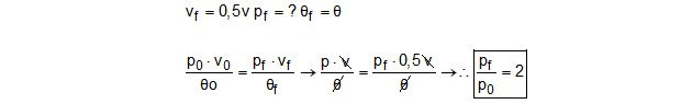 Exercício de física térmica - resolução (Foto: Reprodução)