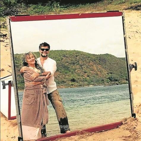 Selma Egrei e Luiz Fernando Carvalho (Foto: Arquivo pessoal)