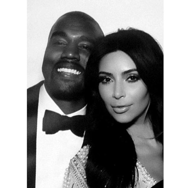 Kanye West e Kim Kardashian (Foto: Reprodução / Instagram)