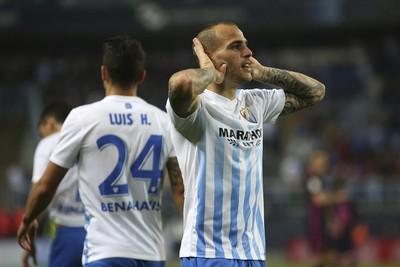 Sandro Ramírez Málaga x Barcelona (Foto: EFE)