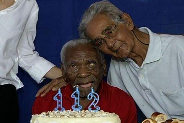 Idoso completa 112 anos em Porangatu, Goiás (Foto: Reprodução/TV Anhanguera)