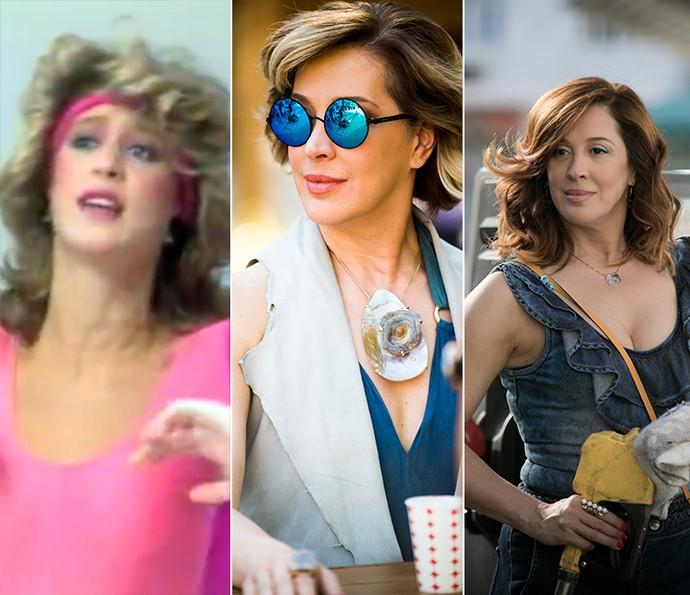 Claudia Raia em 'Viva o Gordo', 'Alto Astral' e 'A Lei do Amor' (Foto: Memória Globo/Gshow)