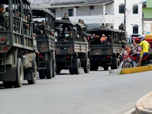 Tropas do Exército em Salvador (Foto: Elói Corrêa/Secom Bahia)