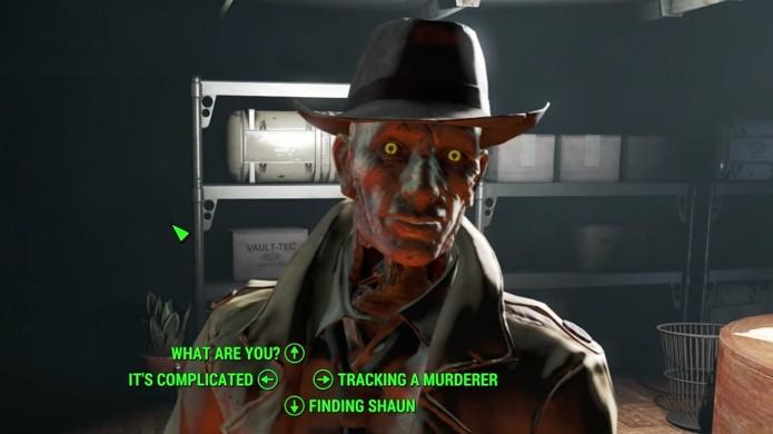 Conte seu caso para Nick Valentine e ele terá alguns bons palpites sobre o destino de seu filho em Fallout 4 (Foto: Reprodução/Tech Insider)