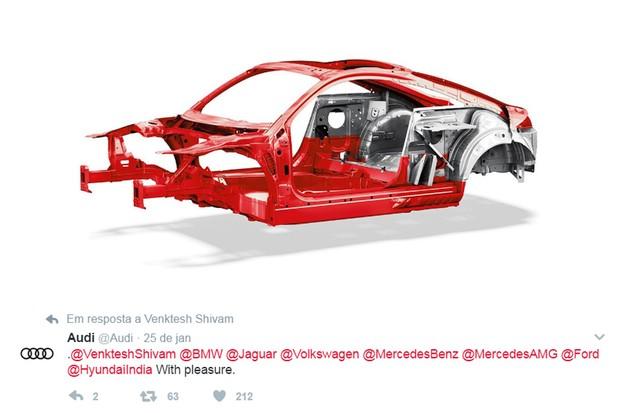 """Audi posta """"nudes"""" com estrutura do TT e desafia outros fabricantes (Foto: Divulgação)"""