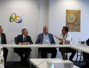 Prefeito Eduardo Paes participou de reunião com o presidente Michel Temer