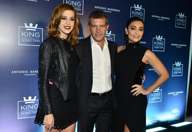 Sophia Abrahão, Antonio Banderas e Juliana Paes (Foto: Roberto Teixeira / EGO)