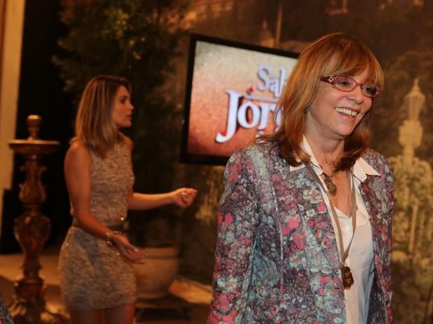 Glória Perez e Flávia Alessandra, durante evento de divulgação de 'Salve Jorge' (Foto: Rodrigo Gorosito/G1)