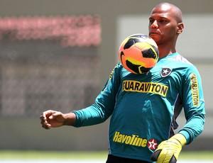 Jefferson treino Botafogo (Foto: Vitor Silva / SSPress)