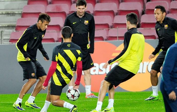 Neymar treino Barcelona (Foto: AP)